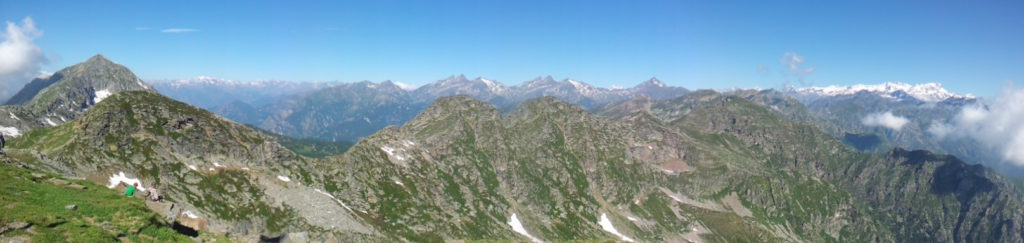 Panoramica dal monte Camino